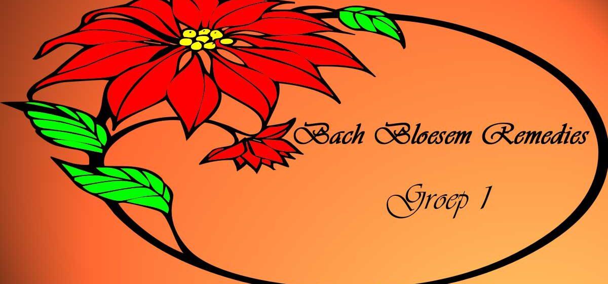 Bachbloesem Remedies Groep 1